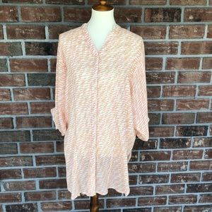 Maeve Long Bishop Sleeve Button Down Tunic  XS